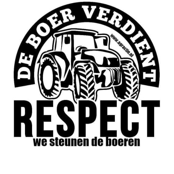 Geert bij boeren protest