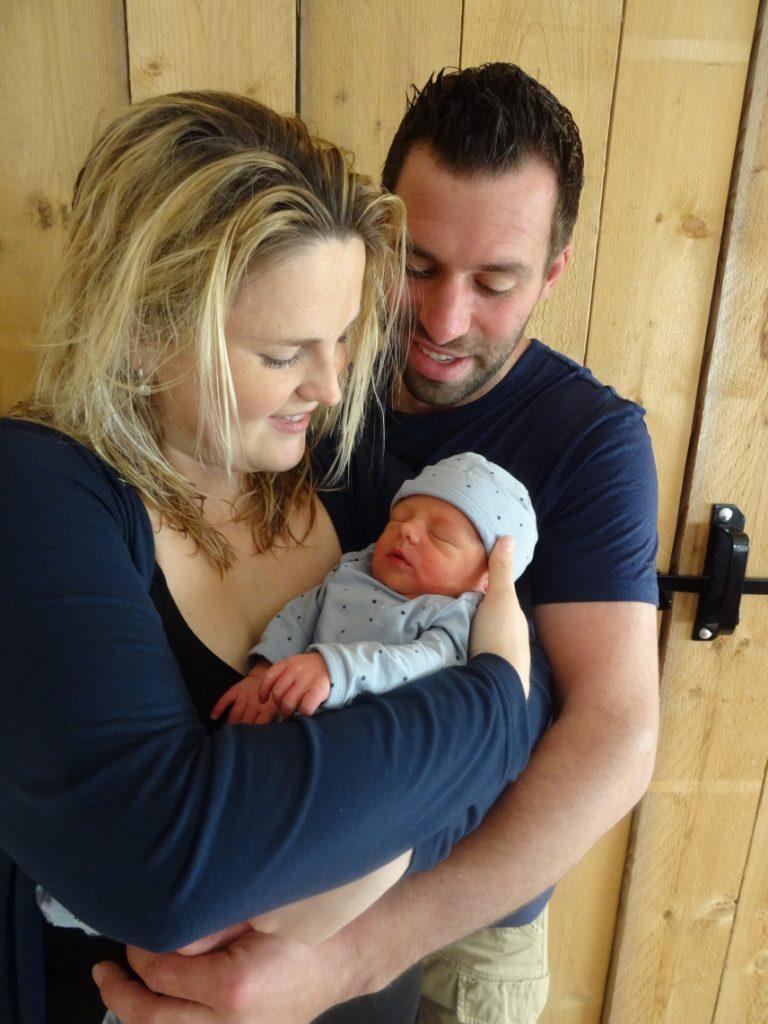 Het zoontje van Geert en Corlene is geboren