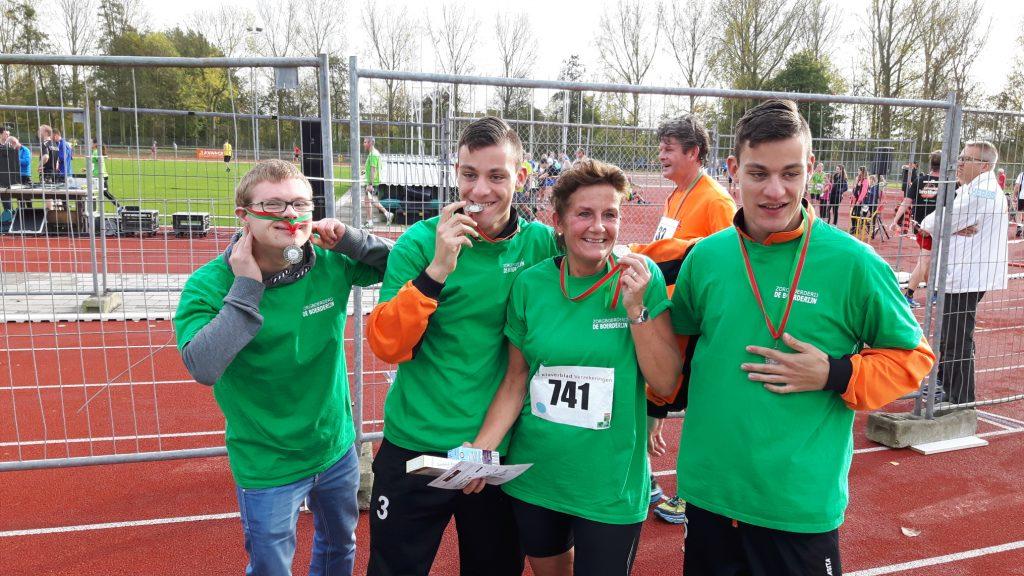 Sponsorloop bij atletiek vereniging Ilion