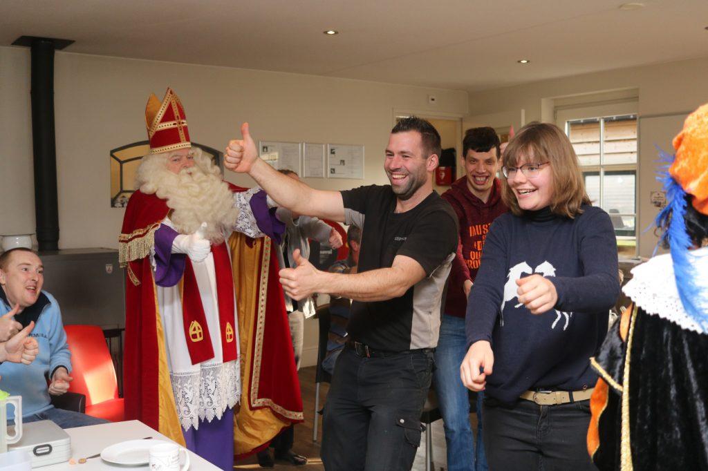 Onverwachts bezoek van Sinterklaas